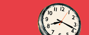 Image of a clock representing final year focus section